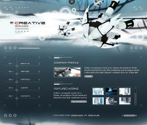 футуризм в веб дизайне