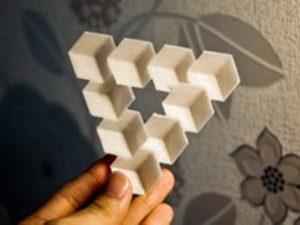 Обман зрения или оптические иллюзии. Треугольник Пенроуза