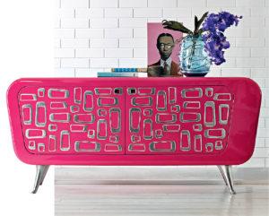 мебель в интерьере в стиле поп-арт