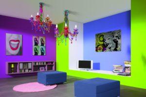 стены в стиле поп-арт в интерьере
