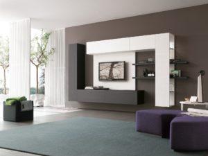 Гостиная в стиле хай-тек в интерьере квартиры
