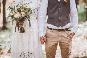Свадебные наряды в стиле рустик