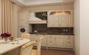 стиль неоклассика в интерьере кухни