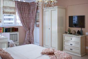 стиль неоклассика в интерьере спальни