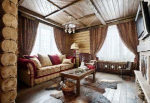 деревянные потолки в стиле рустик