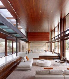 дизайн потолка в стиле минимализм