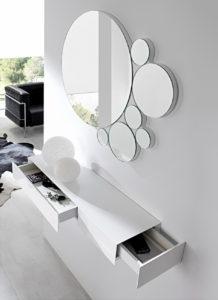 зеркальное панно в интерьере минимализм