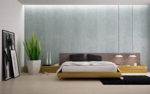 оформление стен в стиле минимализм