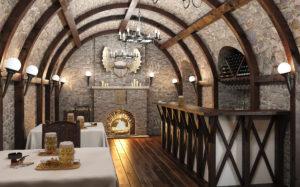 потолки кафе в стиле рустик