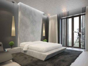 спальня в стиле минимализм