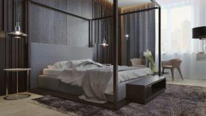 стильная спальня в стиле минимализм