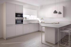 столешницы в стиле минимализм в интерьере кухни