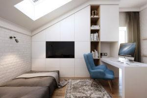 телевизор в интерьере в стиле минимализм