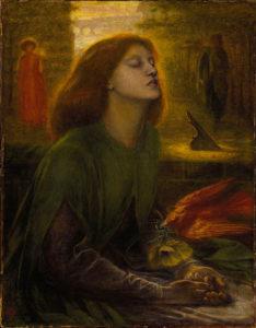 прерафаэлиты.Д.Г. Росстетти. Блаженная Беатриса. 1864-1870