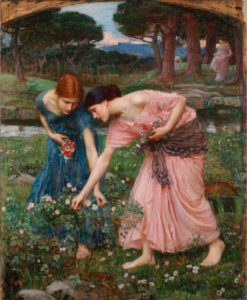 художники прерафаэлиты. Д.У. Уотерхаус.Срывайте розы поскорей. 1909