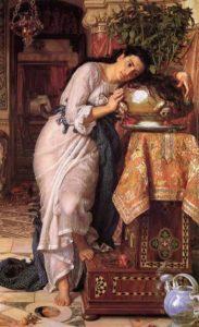 прерафаэлиты. Уильям Хант. Изабелла и горшок с базиликом 1868