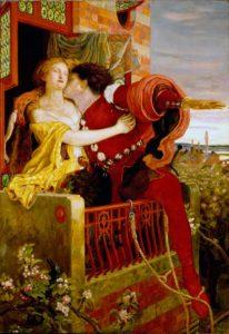прерафаэлиты. Ф.М.-Браун.-Ромео-и-Джульетта.-Знаменитая-сцена-на-балконе