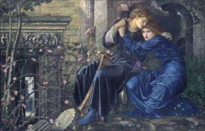 художники прерафаэлиты . Э. Берн-Джонс. Любовь среди руин.