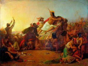 прерафаэлиты. Д.Э. Милле. Писарро берёт в плен перуанских инков