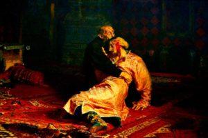 Художники-передвижники.  Репин. Иван Грозный и сын его Иван 16 ноября 1581 года