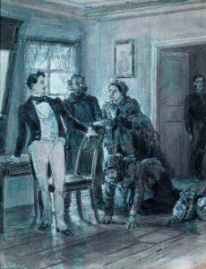 «Иллюстрация к комедии Н. Гоголя «Ревизор», начало 1900-х гг.