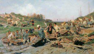 Художники-передвижники. Ремонтные работы на железной дороге