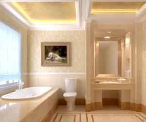 Классические стили в интерьере. Ванная в Греческом стиле