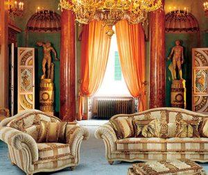 Стиль Ренессанс в интерьере гостиной