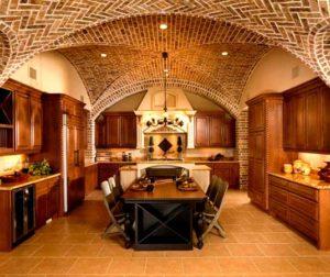 Классические стили в интерьере. Кухня в романском стиле.