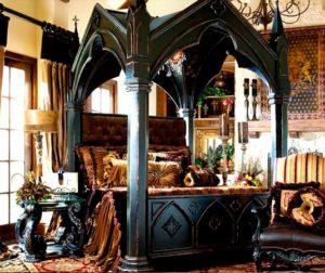 Классические стили в интерьере. Спальня в готическом стиле