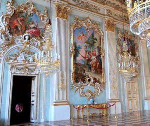 Классические стили в интерьерах. Замок Нимфенбург