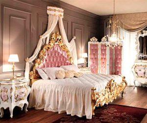 Классика в современном интерьере. Спальня в стиле барокко