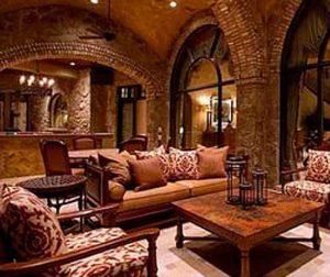 Классика в современном интерьере. Гостиная в романском стиле.