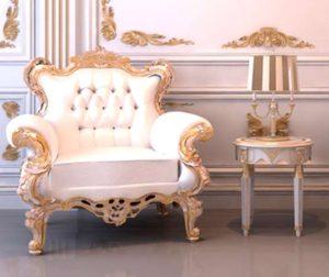 Классика в современном интерьере. Кресло в стиле барокко