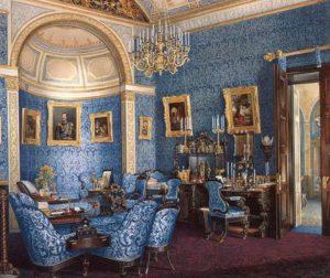 Голубая комната дворца в Петергофе