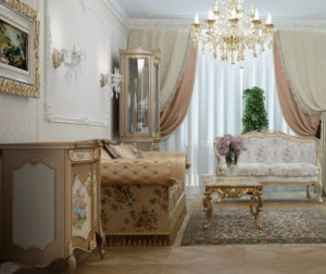 Гостиная в стиле рококо