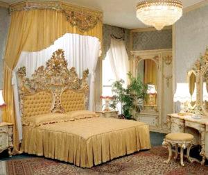 Спальня в стиле барокко