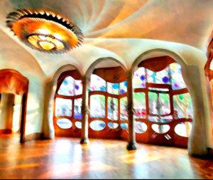 Интерьеры в стиле модерн. Дом Бальо