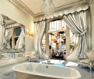 Классика в современном интерьере. ванная в стиле модерн (ар-нуво)