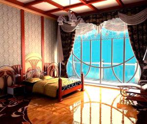 Спальня в стиле модерн (ар-нуво)