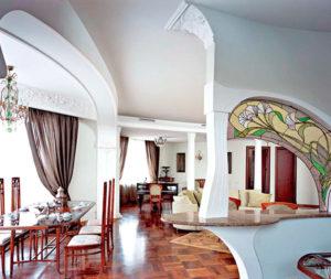 гостиная в стиле модерн (ар-нуво)