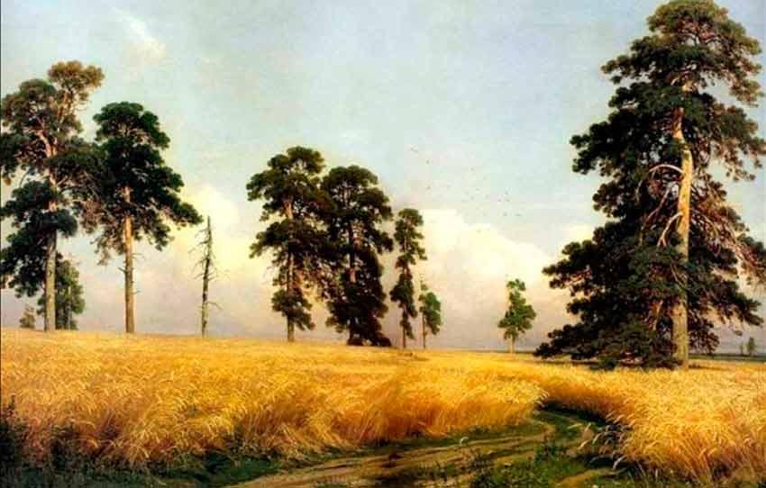 русский пейзаж И.Шишкин. Рожь